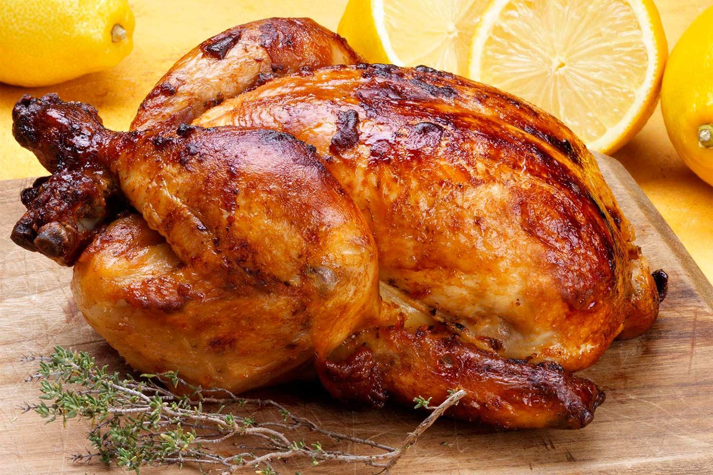 Pollo al horno con lim n y patatas pollo asado o - Pollo al horno con limon y patatas ...