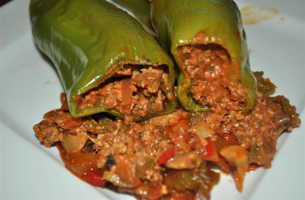 Pimientos Verdes Rellenos De Carne Deliciosicom