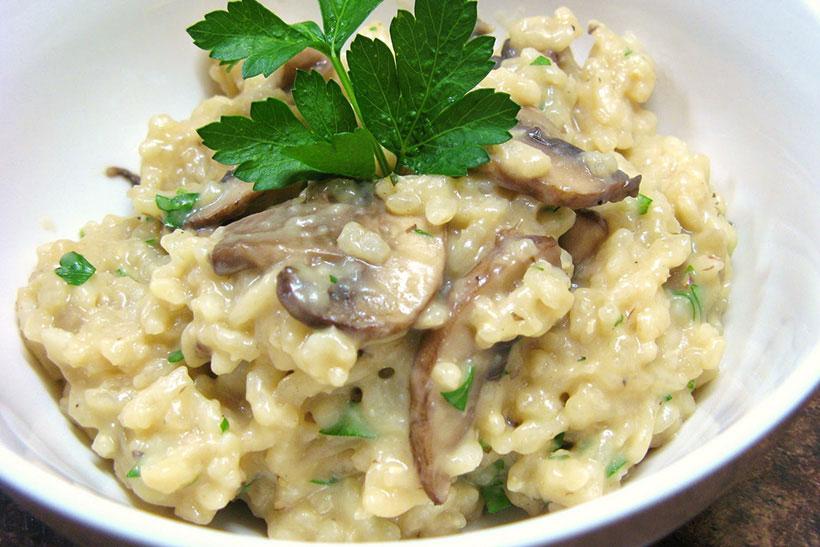 Risotto de pollo y setas - Deliciosi.com