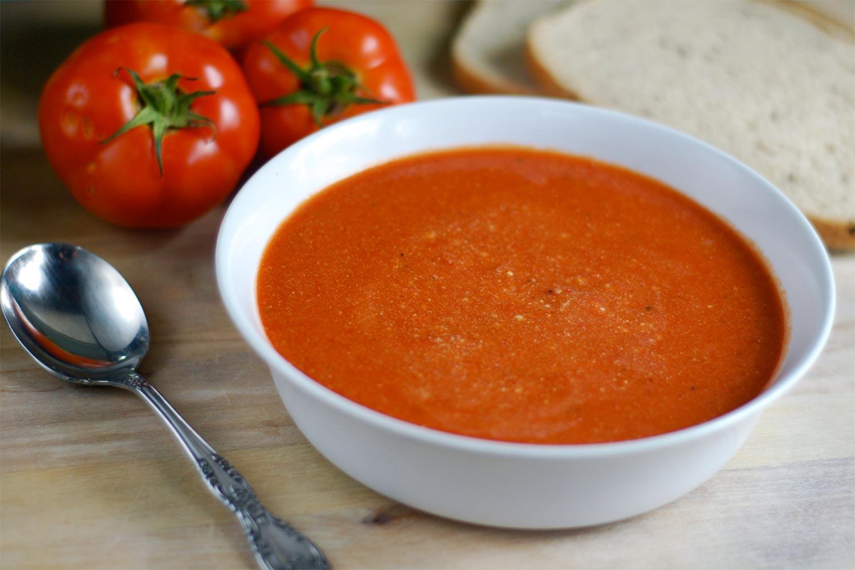 Receta sopa de tomate para bajar de peso