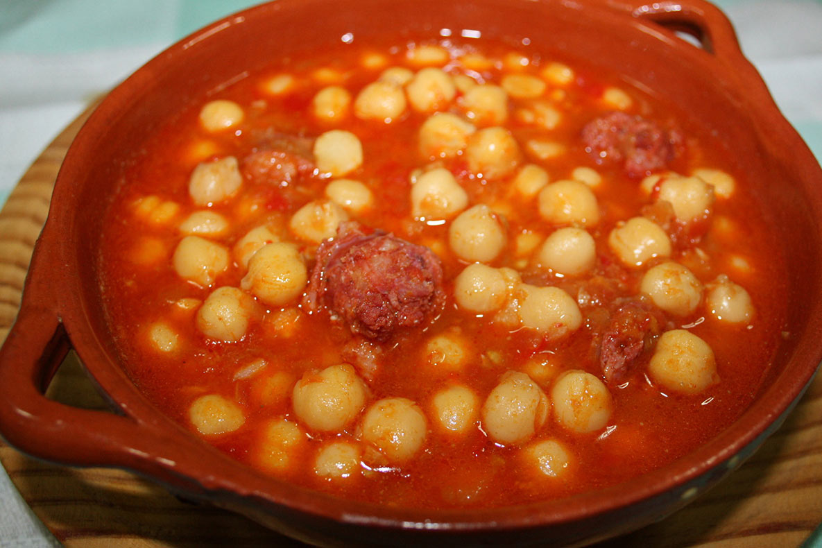Potaje de garbanzos con chorizo cocido de garbanzos - Potaje garbanzos con arroz ...