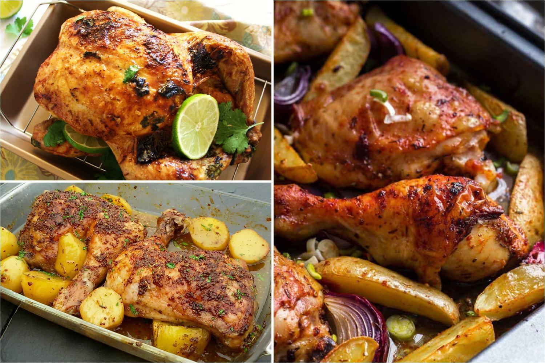 Recetas de pollo al horno entero en filetes muslos etc for Cocinar un pollo entero