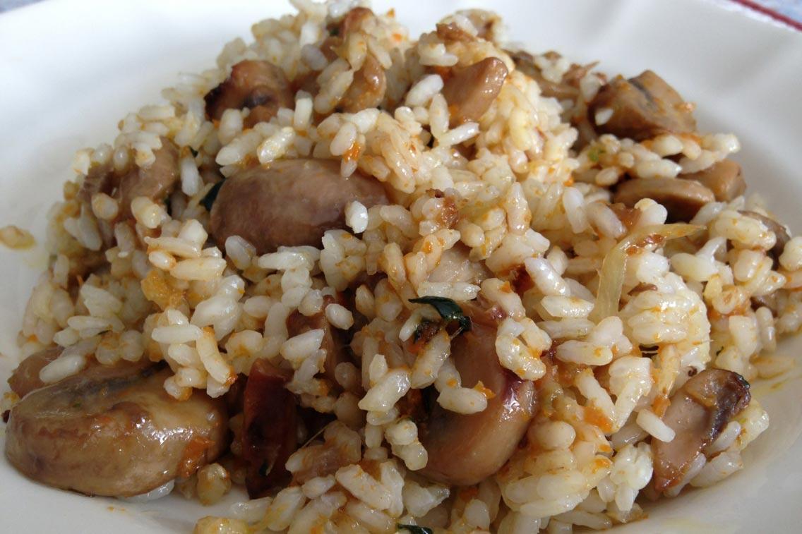 recetas arroz con setas