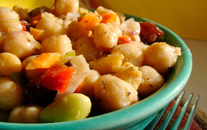 Ensalada de garbanzos light