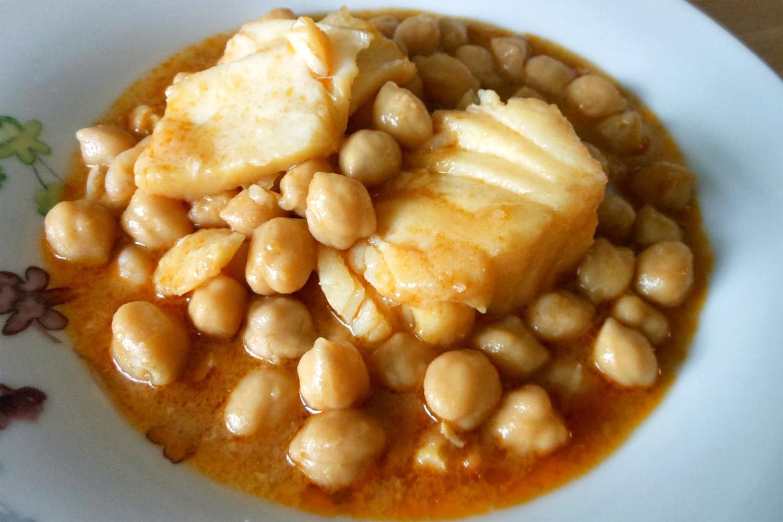 Garbanzos con bacalao con thermomix - Bacalao con garbanzos y patatas ...