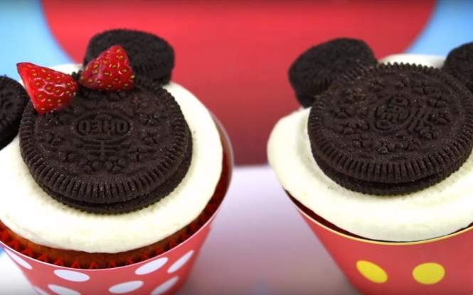 Cupcakes de mickey y minnie mouse